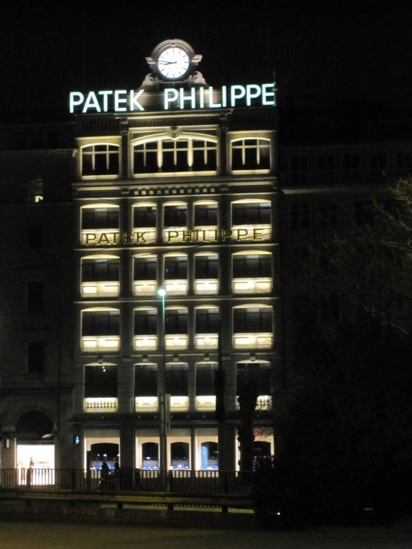Gebäude von Patek Philippe in Genf, rue du rhône