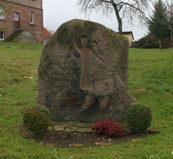 Kriegerdenkmal in Breitenbuch im Odenwald: