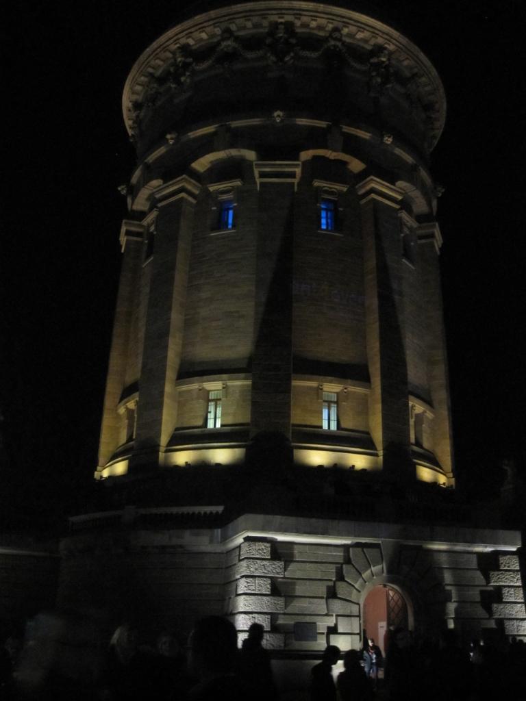 Wasserturm in Mannheim bei der Langen Nacht der Museen 2012