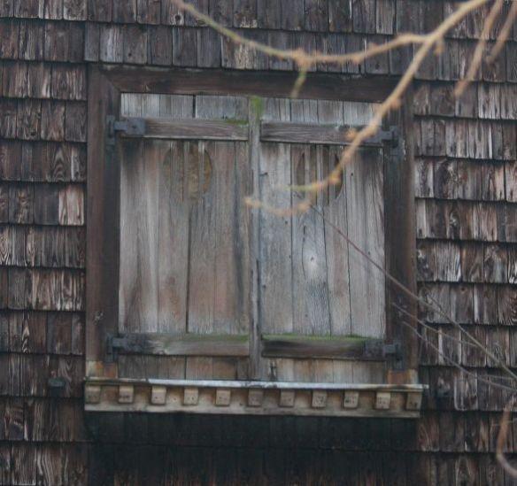 geschlossene Klappläden Holz Jugendstil